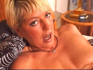 older golden-haired enjoys her own body - dbm