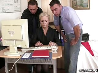 co-owners group sex sexy older lady