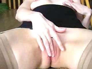 masturbation and jizz fountain on firm titty