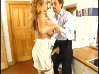 mature golden-haired european whore gives his