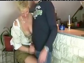 granny woman receives screwed by three-some