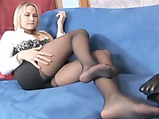 breasty golden-haired d like to fuck teases in