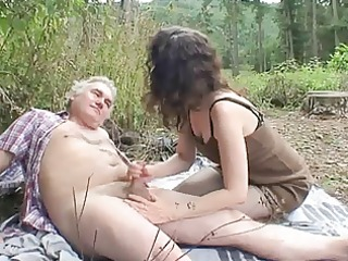 outdoor aged couple sex