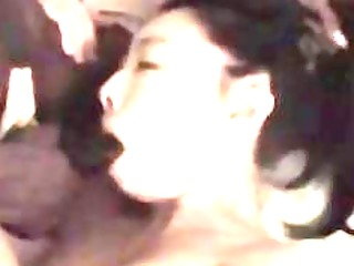 oriental wife engulfing and fucking a darksome