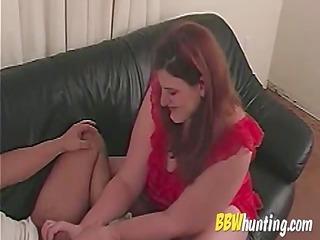 older bbw amateur handjob