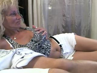 blonde older retro porn teasing at livecam