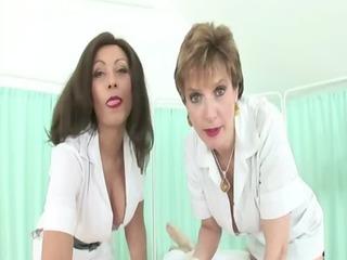 femdom fetish aged nurses give tugjob
