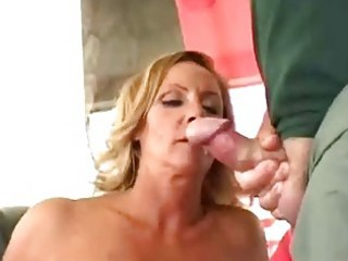 lascivious aged wife get double facial