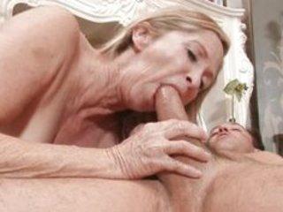sex hungry granny copulates stud