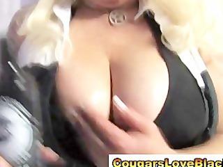 naughty big tits interracial cougar