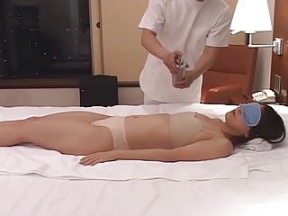 horny japanese wives massaged and then drilled at