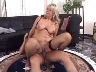 older blond with big wobblers goes unfathomable