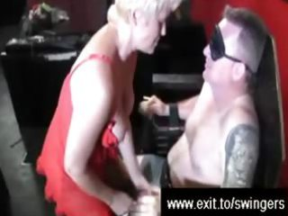 swinger suprise for golden-haired mama tracey