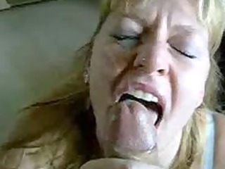 golden-haired milf blows and acquires a massive