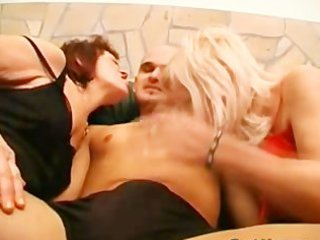 lascivious mature babes share a cock