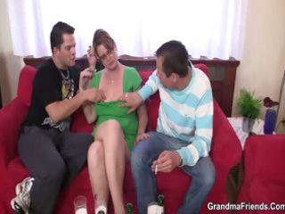 two guys have a fun fucking sexy mom