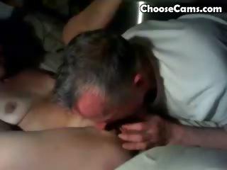 granddad giving grandma oral