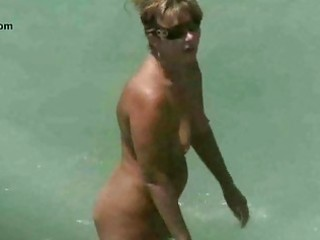 stripped beach mature voyeur