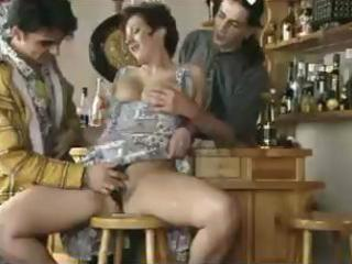 large titted older screwed in a bar